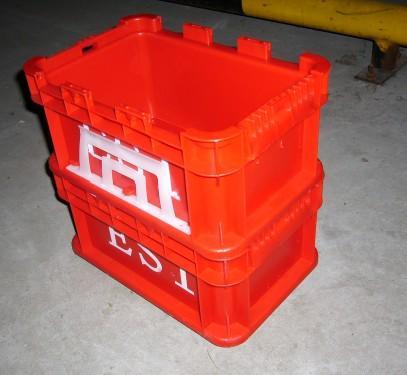 供应红色塑料箱