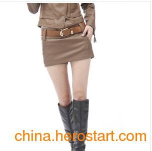2011秋装新款韩版PU皮水洗皮皮裙 皮裤裙 皮短裤女士皮靴