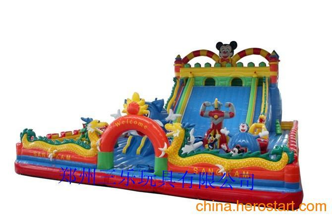 供应儿童充气滑梯攀岩充气滑梯城堡充气滑梯蹦床厂家直销特价促销中
