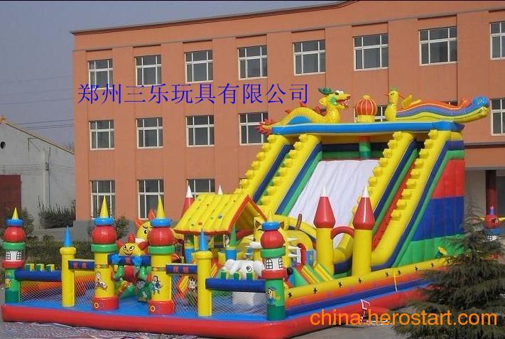 供应龙凤大滑梯龙年订做龙凤大滑梯儿童充气滑梯攀冉城堡一体游乐