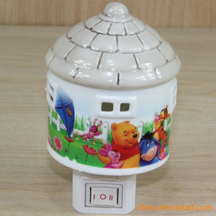 供应2012新款蒙古包陶瓷小夜灯