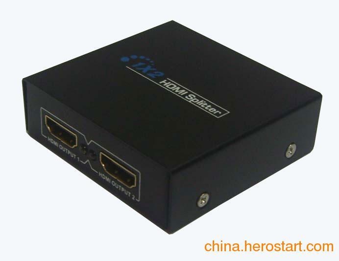 供应深圳厂家直销批发1进2出1拖2HDMI分配器支持3D