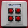 供应86型SC3口光纤桌面盒,86型SC4口光纤桌面盒,SC光纤适配器