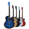 供应广州雅琴乐器吉他厂家生产批发38寸39寸40寸41寸普及练习琴高档单板民谣电木吉他 电箱琴