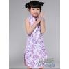 供应2012紫色提花棉斜襟儿童旗袍
