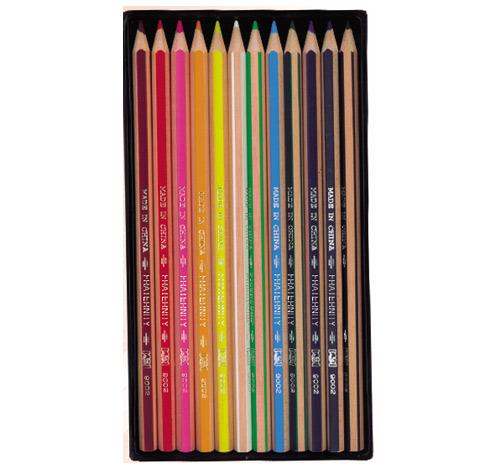 供给9002六角抽条彩色铅笔