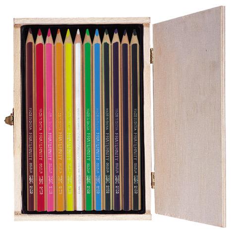 供给2102粗三角抽条彩色铅笔