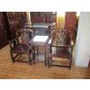 供应红木家具休闲椅 大红酸枝椅凳家具 龙头椅3件套