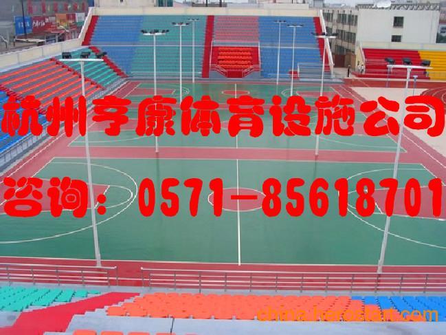 供应亨康塑胶篮球场价格杭州绍兴宁波塑胶篮球场施工