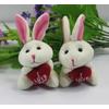 供应330广东佛山毛绒玩具信豫抱心兔子手机挂件