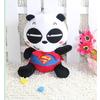 供应330广东深圳毛绒玩具熊猫超人公仔信豫玩具