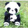 供应403广东东莞毛绒玩具信豫仿真母子竹叶熊猫