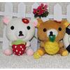 供应411信豫广东毛绒玩具抱草莓日本熊公仔
