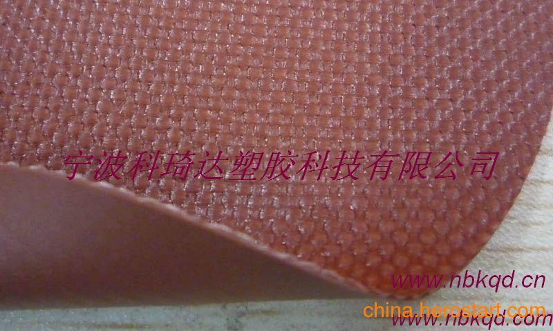 供应高弹无折白PVC涂刮夹网布充气面料