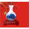 供应琉璃玉系列/工艺礼品摆件/四季平安—青花瓶