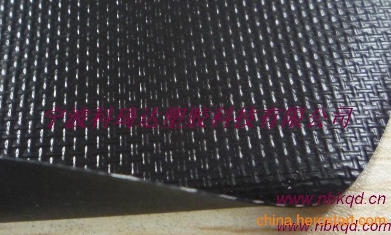 供应新欧标环保高强度双面聚氯乙烯夹网布箱包面料