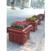 中裕木艺供应户外防腐木制花筒及垃圾桶