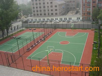 供应天津篮球场翻新改造---施工网球场