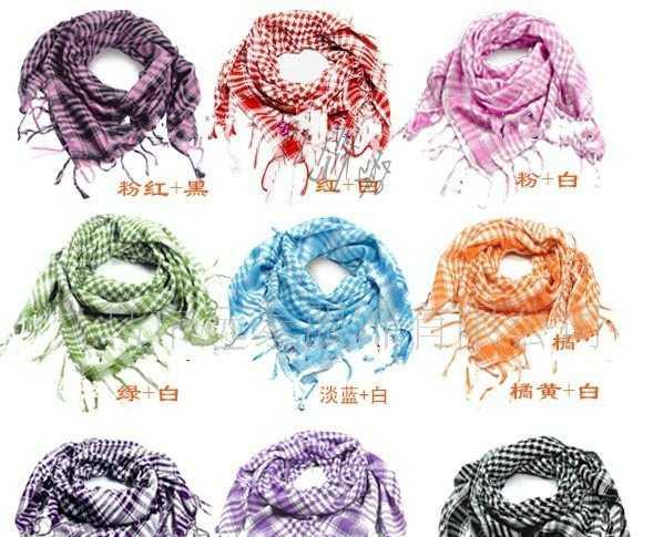 供应时尚流苏围巾 格子围巾 冬季保暖围巾 围巾批发