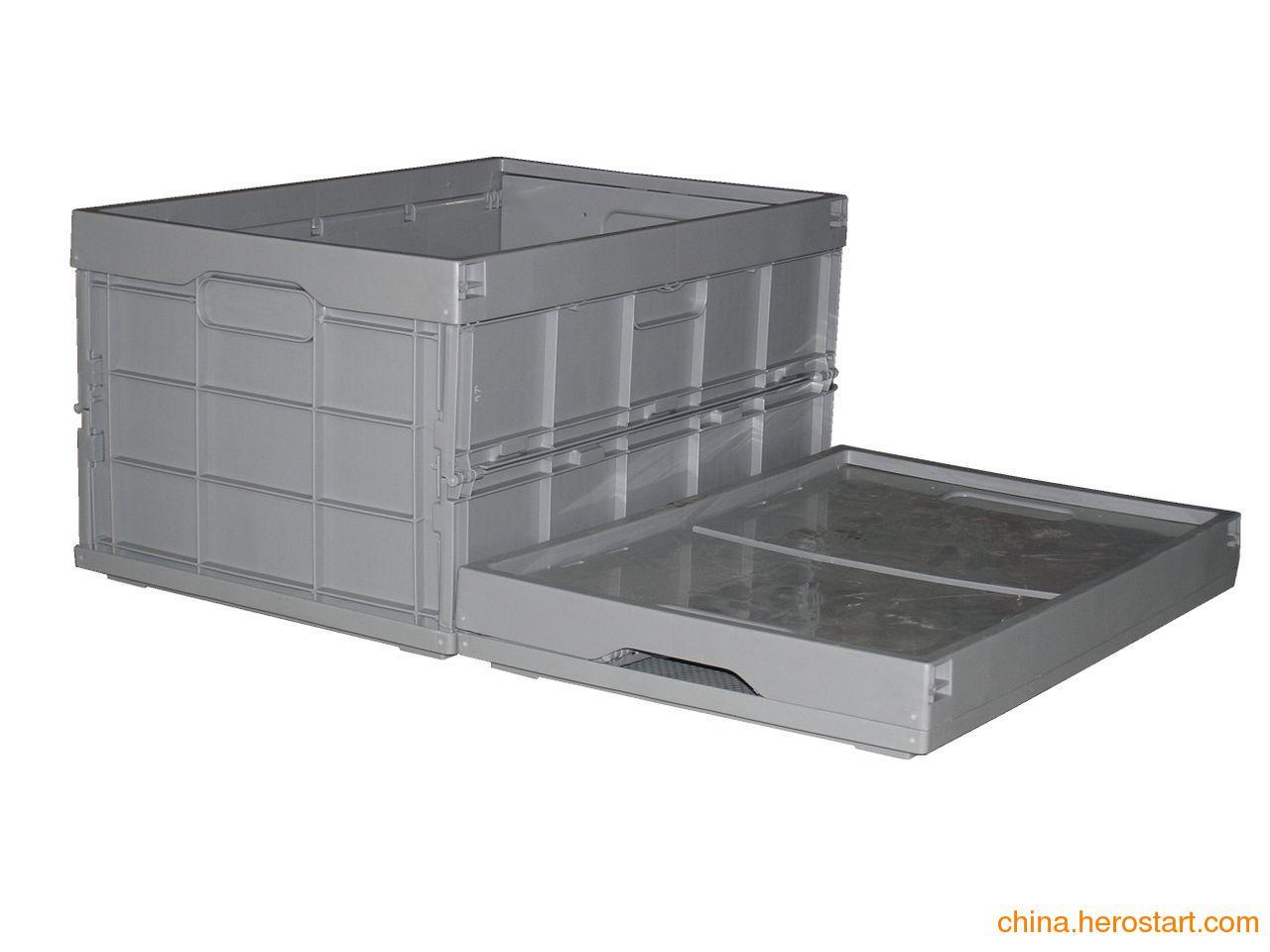供应hdpe全新料塑料折叠周转箱厂家直销
