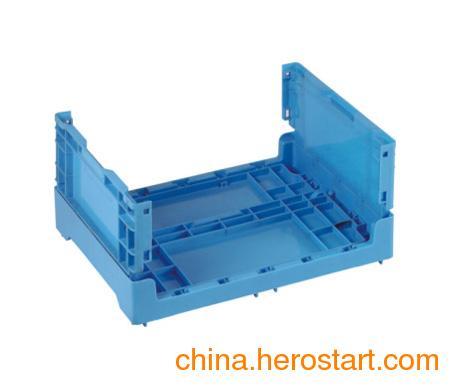 供应pp材质-100%全新料安徽塑料折叠周转箱-厂家直销安徽折叠周转箱
