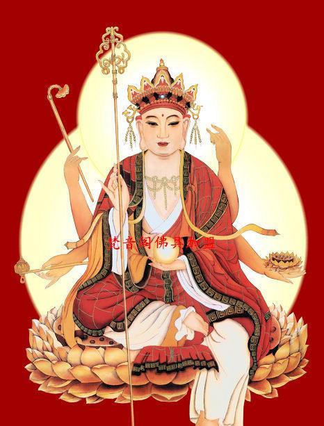 厂家直销全规格地藏菩萨画像系列三佛教唐卡批发字画