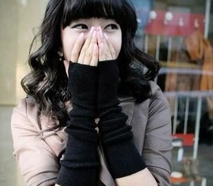 JJ2277韩国冬日热卖时尚男女超长款针织无指生兴女生图片