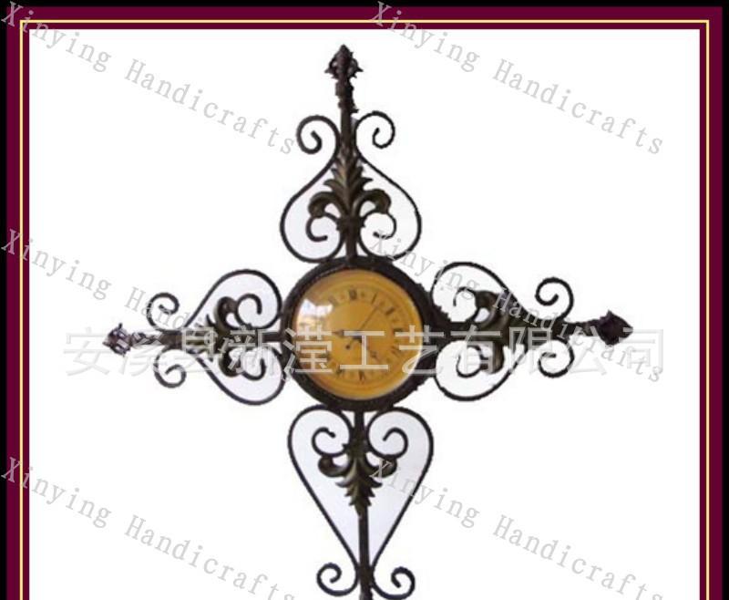 十字架壁挂时钟 十字架田园挂钟 欧式铁艺挂钟