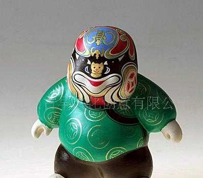 彩绘陶瓷人偶-中国传统京剧脸谱小人