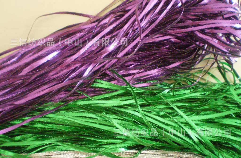 【厂家直销】3MM扁葱带(绿色、紫色、玫红、金色、银色等)