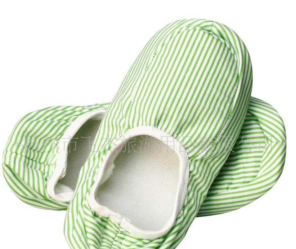 跳舞用条纹棉布工艺拖鞋,
