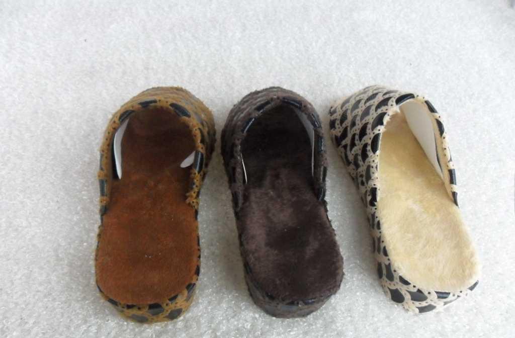 加工工艺拖鞋 坡跟印花超柔拖鞋 女款居家增高拖鞋  室内外拖鞋