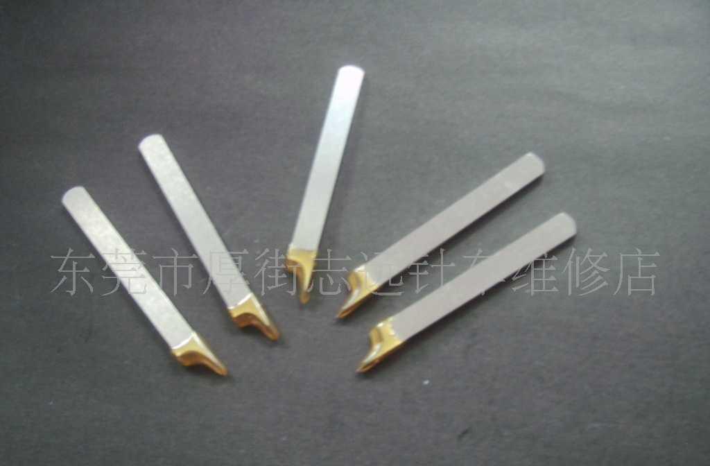 供应针车缝纫机零配件内里修边机W18钢带胶上刀(直刀)