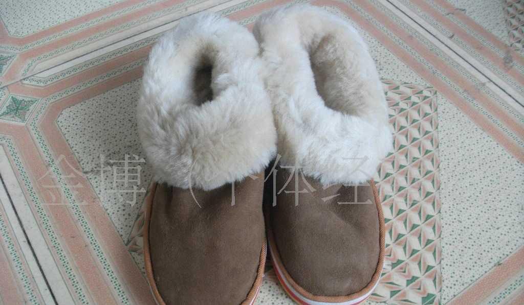 供应进口澳羊皮皮毛一体鞋 雪地靴 雪地靴皮毛一体 雪地靴批发