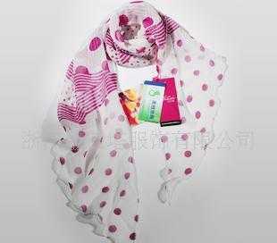 100%桑蚕丝斜条卷边韩版围巾WJ041-0103