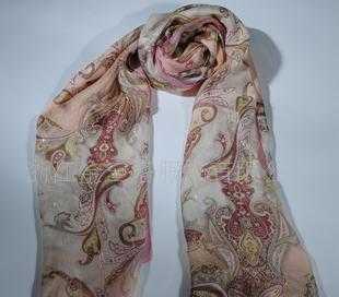 100%桑蚕丝西丽纱长巾WJ052-0102-3