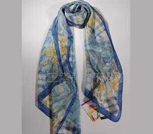 100%桑蚕丝西丽纱长巾WJ052-0101-2