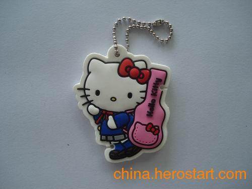供应PVC卡通猫型匙扣