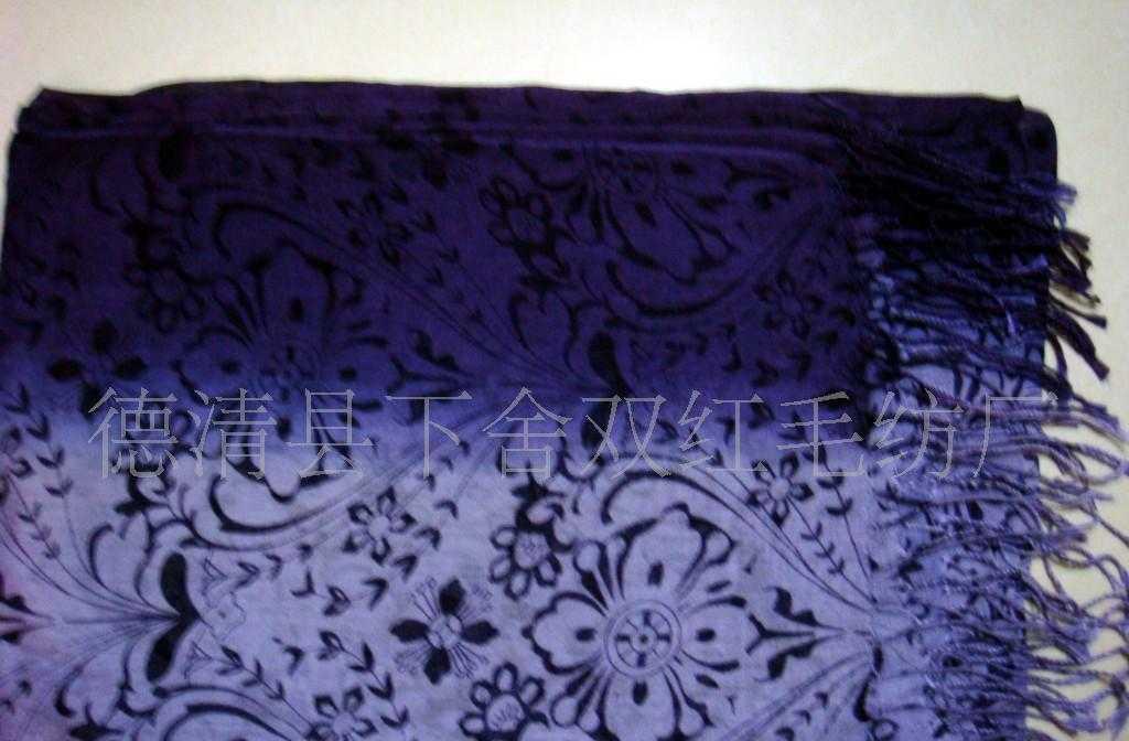专业围巾生产厂家定单生产 百搭人棉印花流苏围巾