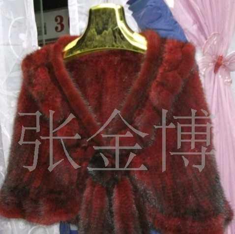 供应水貂编织披肩 皮草 编织 厂家直销 多种颜色