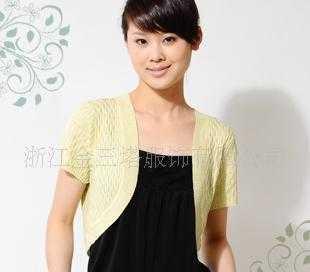 100%桑蚕丝短袖针织小披肩GZN010-3100