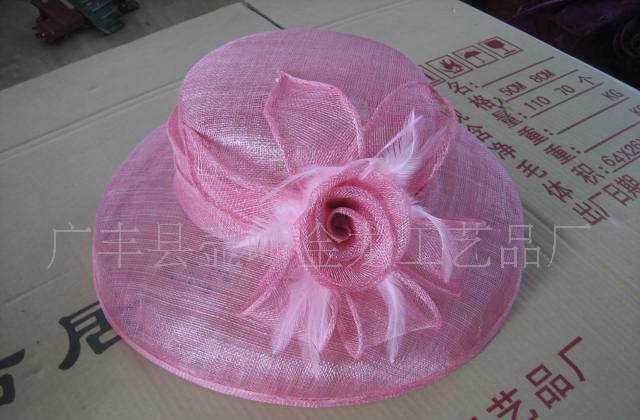 中国麻布产地特供麻布帽子,草帽,麻布花等产品