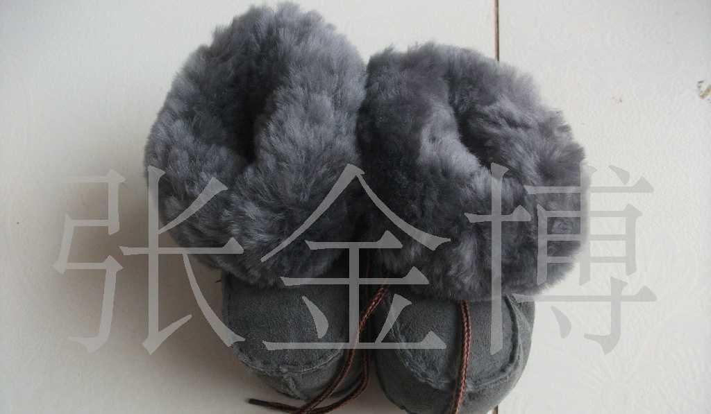 供应澳大利亚进口羊皮皮毛一体童鞋 雪地靴皮毛一体 雪地靴批发