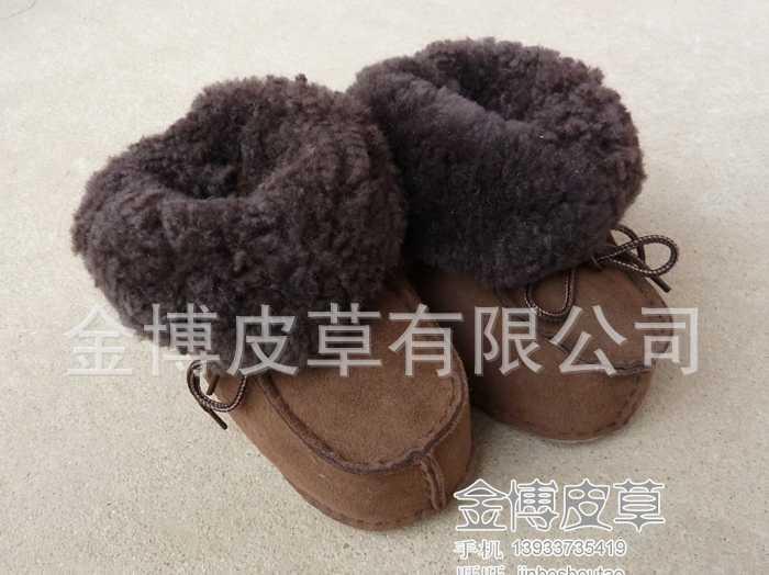 澳洲进口羊皮毛一体宝宝鞋儿童鞋雪地靴冬男女真皮婴儿防滑学步鞋