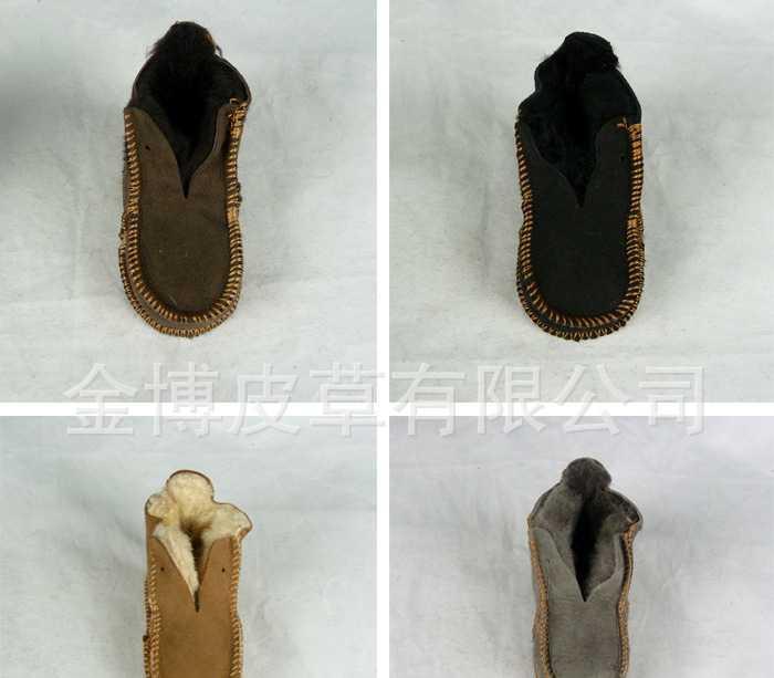 厂家直销供应进口澳羊皮整皮机缝皮毛一体童鞋童靴 雪地靴