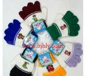 批发供应手套 两元商品 保暖手套 小孩全指手套