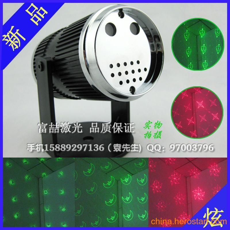 供应带视频 新款热卖 圆筒形舞台灯 迷你激光灯 声控红绿多图闪光灯