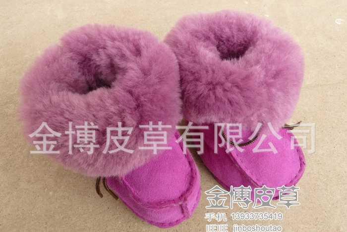 供应皮毛一体童鞋 宝宝鞋 学步鞋 雪地靴 冬季保暖鞋