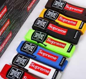 美国潮牌supreme军用黑漆扣 街舞必备加长120CM腰带 帆布皮带