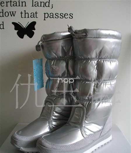 保暖鞋 VIVI专柜正品高筒雪地靴 漆皮靴